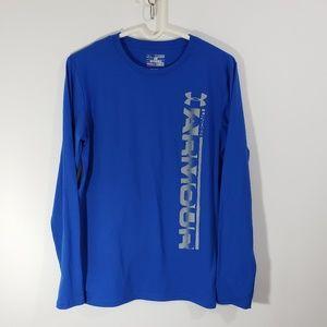 Under Armour Boy's Blue Long Sleeved Tee Shirt